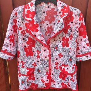 Vintage Rockabilly/ Pinup blouse ♥️💃🏻👠🌺 size L